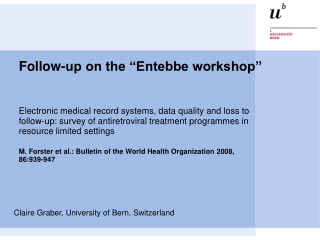 """Follow-up on the """"Entebbe workshop"""""""