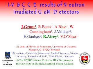 I-V & CCE results of Neutron Irradiated GaN Detectors