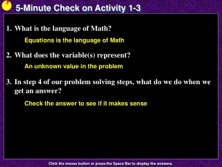 5-Minute Check on Activity 1-3