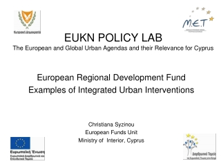 EUKN POLICY LAB The European and Global Urban Agendas and their Relevance for Cyprus