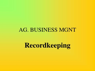 AG. BUSINESS MGNT