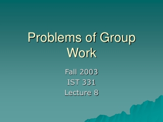 Problems of Group Work