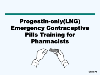 Progestin-only(LNG) Emergency Contraceptive Pills Training for Pharmacists