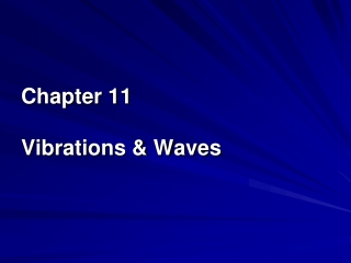 Chapter 11 Vibrations & Waves