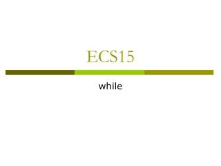 ECS15
