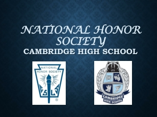 National Honor Society  Cambridge High School