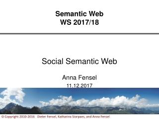 Semantic Web WS 2017/18