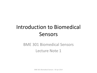 Introduction to Biomedical Sensors