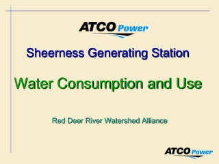 Sheerness Generating Station Water Consumption and Use