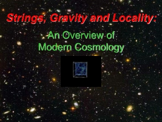 Strings, Gravity andLocality: