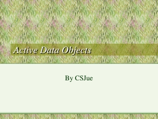 Active Data Objects