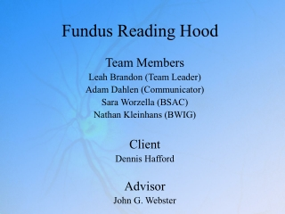 Fundus Reading Hood