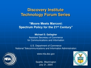 Discovery Institute Technology Forum Series
