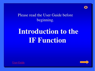 Introduction to the  IF Function