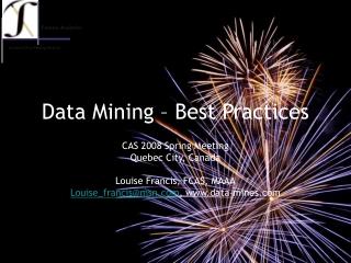Data Mining – Best Practices