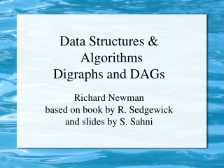Data Structures & Algorithms Digraphs and DAGs