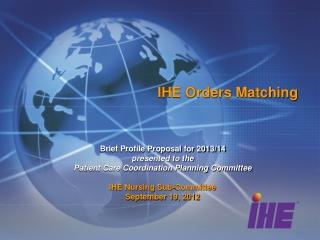 IHE Orders Matching