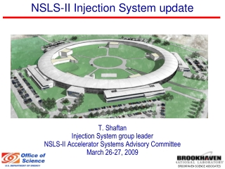 NSLS-II Injection System update