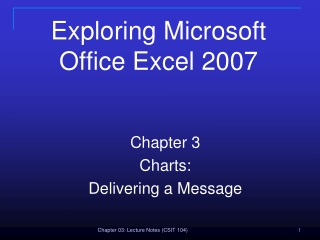 Exploring Microsoft Office Excel 2007
