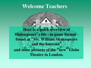 Welcome Teachers
