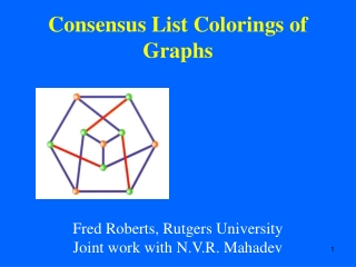 Consensus List Colorings of Graphs