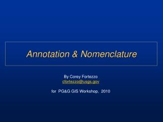 Annotation & Nomenclature