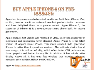 Buy Apple iPhone-5 online in india
