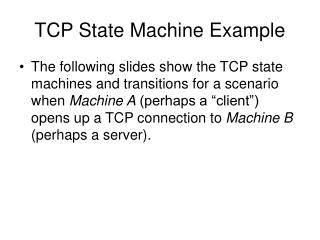TCP State Machine Example