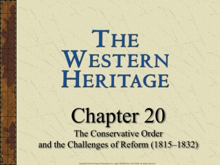 Chapter 20 The Conservative Order and the Challenges of Reform (1815–1832)