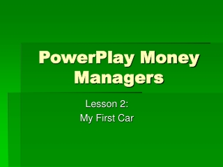 PowerPlay Money Managers