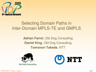 Selecting Domain Paths in  Inter-Domain MPLS-TE and GMPLS