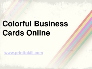 Colorful Business Cards Online