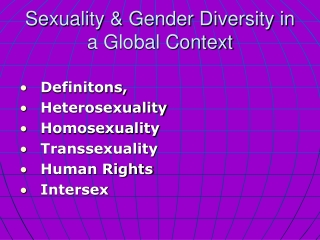 Sexuality & Gender Diversity in a Global Context