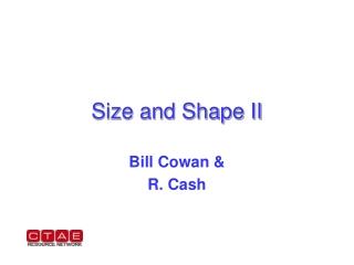 Size and Shape II