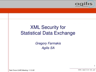 XML Security for  Statistical Data Exchange