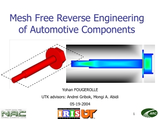 Mesh Free Reverse Engineering of Automotive Components