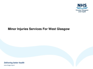 Minor Injuries Services For West Glasgow