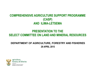 DEPARTMENT OF AGRICULTURE, FORESTRY AND FISHERIES 28 APRIL 2015