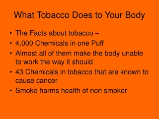 What Tobacco Does to Your Body