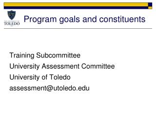 Program goals and constituents