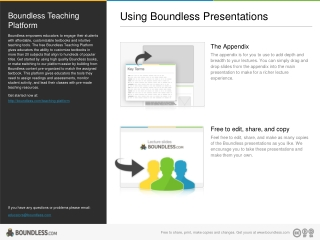 Using Boundless Presentations