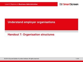 Handout 7: Organisation structures