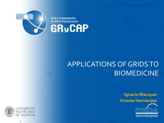 Applications of Grids to biomedicine