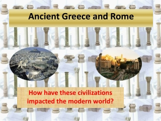 How have these civilizations impacted the modern world?
