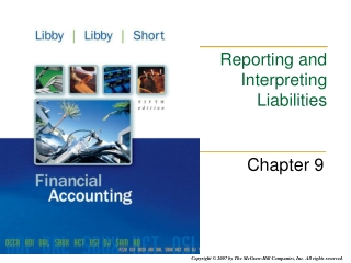 Reporting and Interpreting Liabilities
