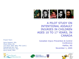 Canadian Injury Prevention & Control Conference Halifax, NS November 1, 2005