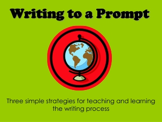 Writing to a Prompt