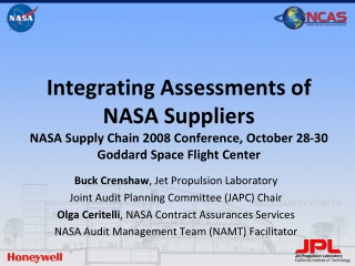 Buck Crenshaw , Jet Propulsion Laboratory Joint Audit Planning Committee (JAPC) Chair