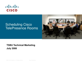 Scheduling Cisco TelePresence Rooms