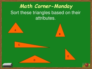 Math Corner-Monday